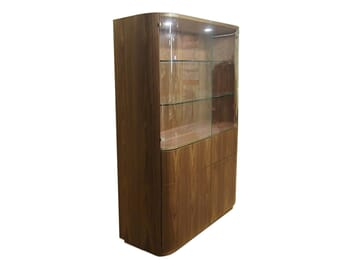 Glass and Wood Display Cabinet
