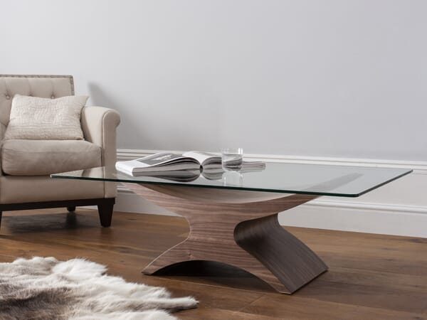 Atlas Coffee Table. Walnut as shown. Ex display. Excellent condition