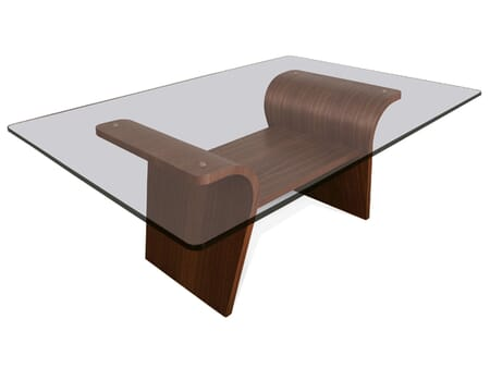 Charlotte Coffee Table, Glass Top