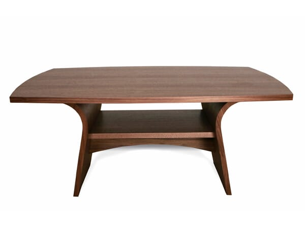 Charlotte Coffee Table, Wooden Top