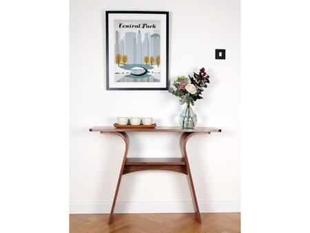 Charlotte Console Table, Wooden Top