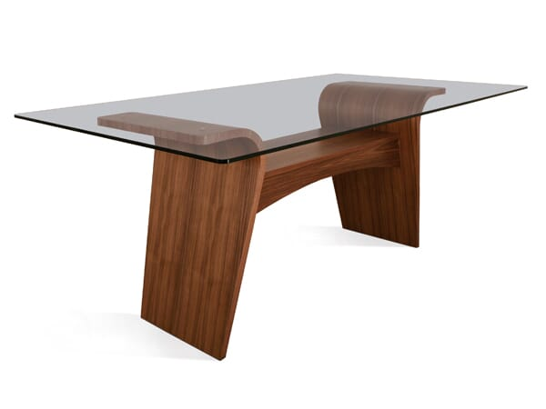 Charlotte Dining Table, Glass Top