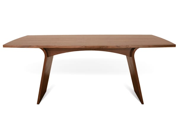 Charlotte Dining Table with extending wooden top, Walnut Natural. Excellent condition.