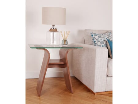 Charlotte Lamp Table, Glass Top